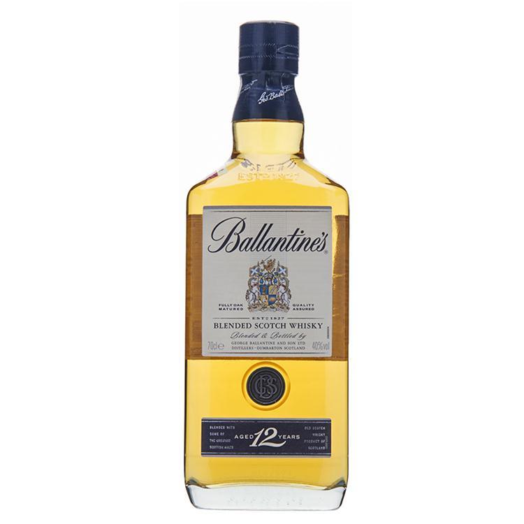 百龄坛(Ballantine's)洋酒 12年  苏格兰 威士忌 700ml
