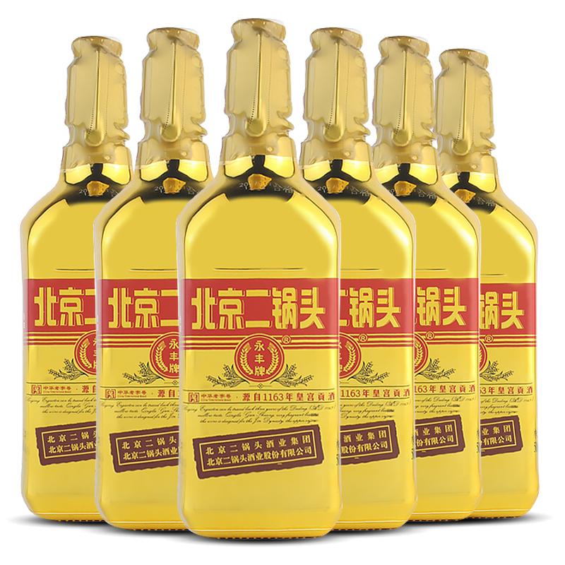 永丰 清香型北京二锅头(出口型小方瓶)金标46度(整箱装)500ml