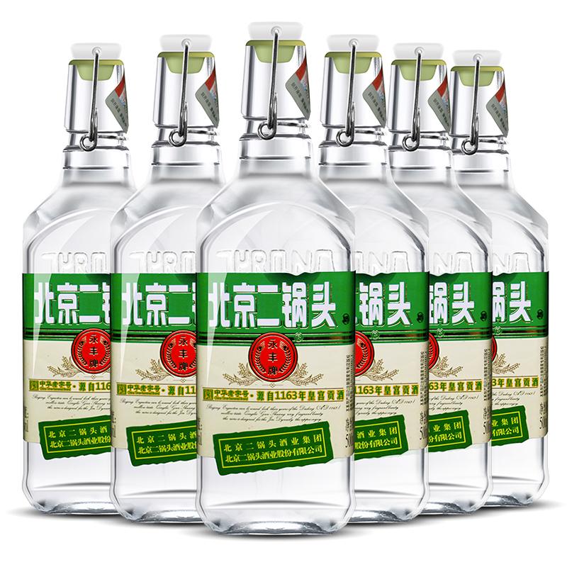 永丰 清香型北京二锅头(出口型小方瓶)绿标42度(整箱装)500ml